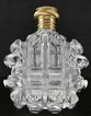 Dazzling & Breathtaking! French, Circa 1880, Cut Crystal, Scent / Perfume Bottle with 18 Karat Gold Top!