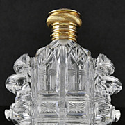 SALE Dazzling & Breathtaking! French, Circa 1880, Cut Crystal, Scent / Perfume Bottle with 18