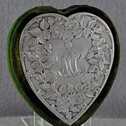 SALE One of a kind! Circa 1880, Black Starr & Frost, Sterling Silver, Heart Shaped, Bodkin Cas