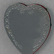 SALE Delightful! Vintage, Aluminum, Heart  Shaped, Pin Cushion Safe Wheel
