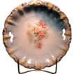 R.S. Prussia Floral decorated Cake Plate