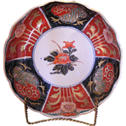 Outstanding scalloped edge Japanese Imari bowl