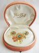 Retro Moderne Gold Filled Pin & Earring Set - Van Dell