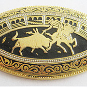 Spanish Damascene Bullfighter Matador Pin - Spain