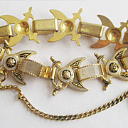 Damascene & Mother of Pearl Bracelet - Sabers, Crossed Swords or Daggers