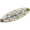 Lovely 14K White / Yellow Gold OEC Diamond Pin Circa 20's-30's