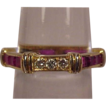 Cartier Vintage 18K Ruby Diamond Band Ring