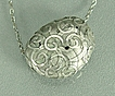 &quot;Bountiful Boulder&quot; Pure (.999) Silver PMC Hollow Form Necklace