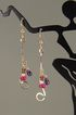 """RuGarMethyst"" Ruby, Garnet and Amethyst Long Drop Earrings (Gold-Filled)"