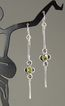 """Perfect Peridot"" Sterling Silver Wire-Wrapped Earrings"