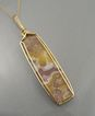 &quot;Agate Landscape&quot; Gold-Filled Wire-Wrapped Agate Pendant