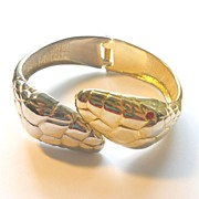 Double Headed Snake Bracelet - Both Goldtone & Silvertone