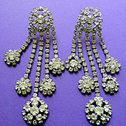 Cascading Sparkling Rhinestone Shoulder Duster Earrings - Must See