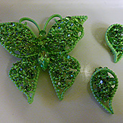 Butteryfly Brooch & Earrings - Go Green