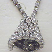 Rhinestone Bell Necklace