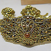Hollycraft Demi-Parure - Brooch, Earrings and Bracelet