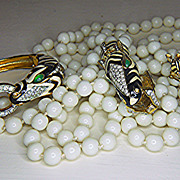Hard to Find Ciner ZEBRA  Parure - Necklace, bracelet & Brooch