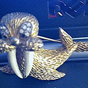 Cute Little JOMAZ  Walrus Brooch Looking for a Forever Home