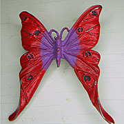 Beautiful Enameled Butterfly Brooch - Summer Bright