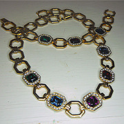 Wonderful classic Demi Parure Necklace and Bracelet