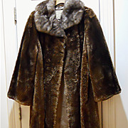 Pure Luxury -Vintage  Beaver Sheared Fur Coat - Extra Large