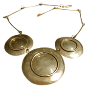 Early Lillo of Israel Brass Hand-Crafted Necklace