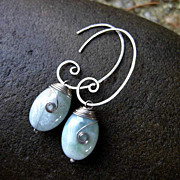 MEANDER Aquamarine and Sterling Silver Earring