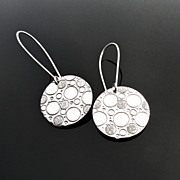 CHIMERA Sterling Silver Disc Drop Dangle Earring Modern Geometric Minimalist