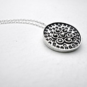 FLOURISH Sterling Silver Flower Pendant Necklace