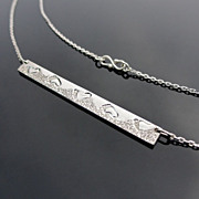 SALE PENDING SANDY WALK Sterling Silver Bar Pendant Necklace