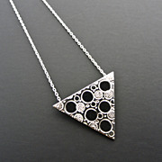 CHIMERA Sterling Silver Triangle Pendant Geometric Modern Necklace