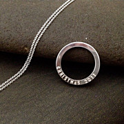 Hidden Message Stackable Sterling Silver Ring Pendant Necklace TIS THE SEASON