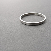 Slim Sterling Silver Stackable Band Ring