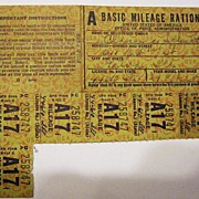 1929 Chevy Mileage Ration Coupon Book