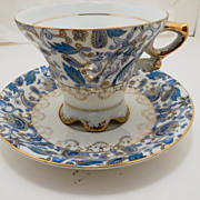China Blue Paisley Patter Teacup and Saucer