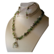 Tourmaline necklace with crystal and tourmaline stick pendant