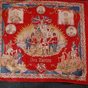 "SALE Vintage 1901-11 Edwardian Commemorative Scarf, ""Our Empire"""
