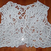 Vintage Child's Battenburg lace Vest