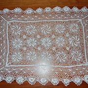 Vintage Doily, Beautiful fine swirling stars
