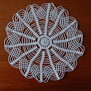 Beautiful vintage Doily, White, spider web