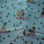 1 1/4 yards Vintage Hollie Hobbie fabric, Hollie at the Seaside