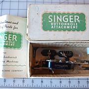 Vintage Singer Sewing Machine Buttonhole attachment, # 121795