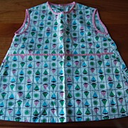 Awesomely cute Vintage 1950's Toddler dress, Sailboats!