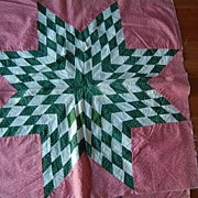 3 Fabulous Vintage 1870's-80'ds Star of Bethlehem quilt blocks