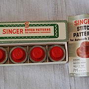 Vintage Singer Sewing Machine accessories, Stitch pattern disks for Automatic ZigZagger