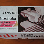 Vintage Singer Buttonhole Attachment for slant shank, zig zag machine, Part #489500Z