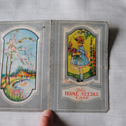 Vintage 1920-30's Paper needle book, &quot;The Home Needlecase&quot;, little girl