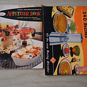 Two Vintage  1947, 1958 SMall cookbooks, Waring Blender and Good Housekeeping Appetizer book