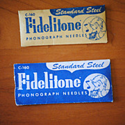 22 Vintage Fidelatone phonograph needles, C-160 in original package