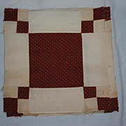 4 Vintage Quilt blocks, 1860's, Sheep Fold